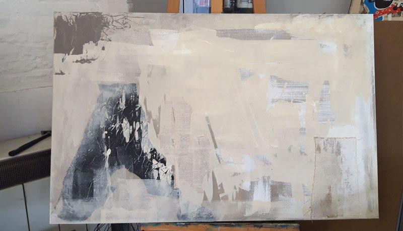 Abstrakte Kunst auf Leinwand