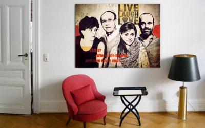 Ein modernes Familienportrait malen lassen