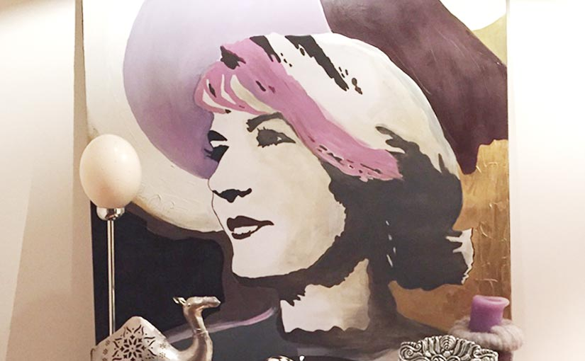 Frauenportrait als Acrylgemälde auf Leinwand