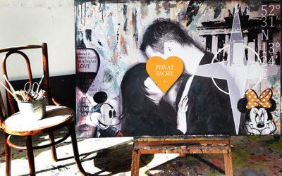 Ein Gemälde als romantisches Geburtstagsgeschenk für ihren Freund