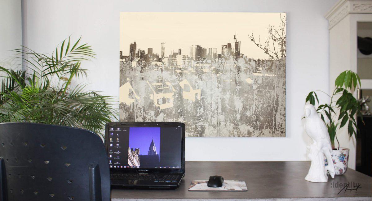 Wenn Du kein Zimmer mit Ausblick auf die Frankfurter Skyline hast, hole Sie Dir an Deine Wände.