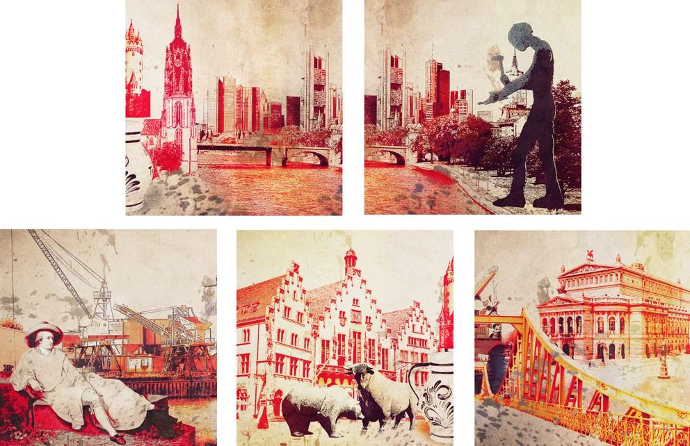 Wandbilder von Frankfurt auf Leinwand